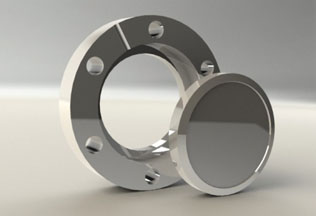 Tapped rotatable blank flange