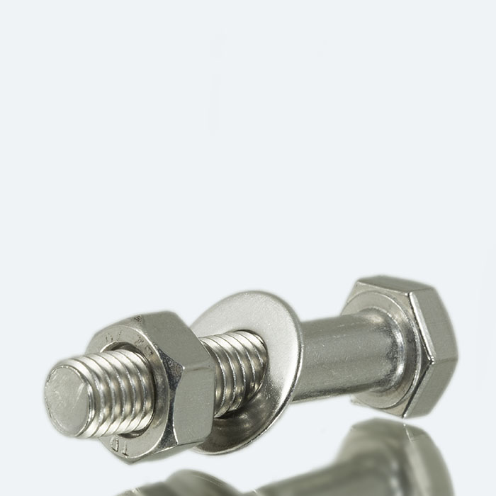 Nut bolt washer set for ISO F flange - stainless steel